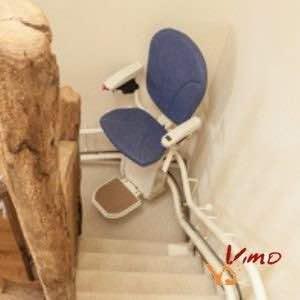 silla salvaescaleras curva platinum
